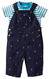 Carter\'s Baby Boys\' 2 Piece Overalls Set (Baby) - Blue - 9 Months