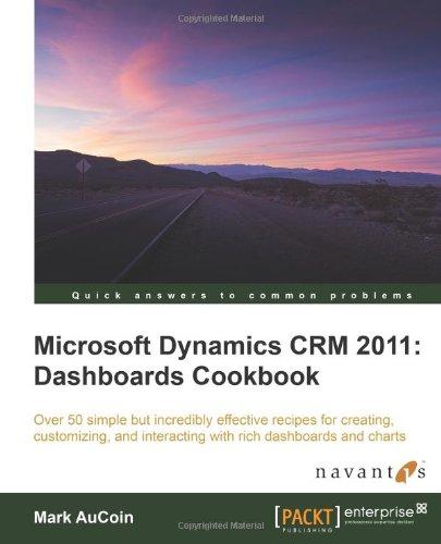 Microsoft Dynamics Crm 2011: Dashboards Cookbook