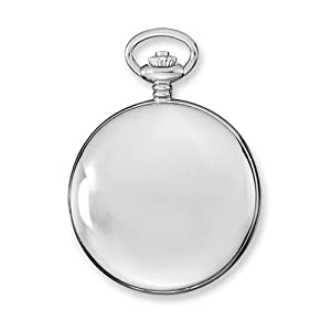 Stnlss Stl Skeleton Dial Pocket Watch by Charles Hubert Paris Watches, Best Quality Free Gift Box Satisfaction Guaranteed