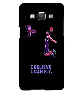 PrintVisa Quotes & Messages Attitude Fly 3D Hard Polycarbonate Designer Back Case Cover for Samsung Galaxy E5