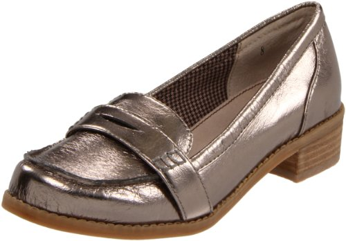 BC Footwear Women's Crown Loafer,Pewter,8.5 M US