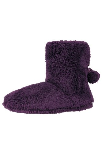 Yeti Womens Warm Winter Lightweight Soft Comfortable Cocooning Slippers Booties Purples Small / Medium