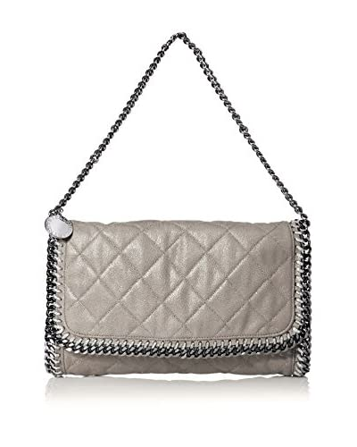 Stella McCartney Women's Small Quilted Clutch, Light Grey/Silver