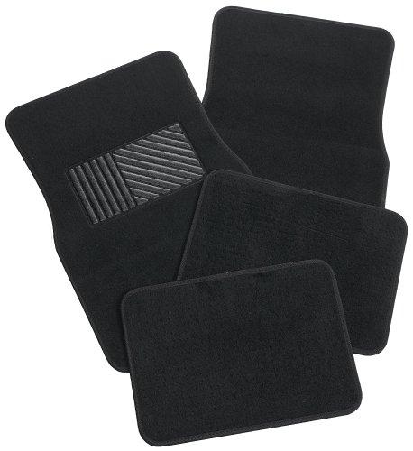 Rubber Queen 70541 Carpeted 4 Piece Mat With Vinyl Heel Pad Black