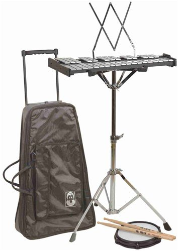 CB Percussion Kit with Bells & Traveler Bag with Wheels.