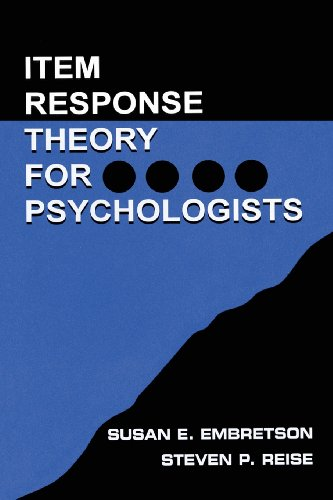 Item Response Theory for Psychologists (Multivariate Applications Book Series)