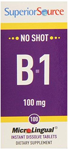 Superior Source Vitamin B1, 100 Mg, 100 Count