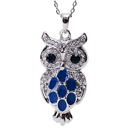 Neoglory-Hecho-con-Swarovski-Elements-Collar-Colgante-Bho-Animal-Genuinos-Rhinestones-Austriacos-Azul-Oscuro-y-Rhinestones-Checos-Blancos-Esmalte-Azul-Joya-Original-Regalos-para-Chicas-Mujeres