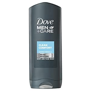 Dove for Men Clean Comfort Body and Face Wash - 400 ml