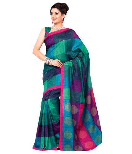 Meher Bhagalpuri Silk Saree (SDE5071_Green)