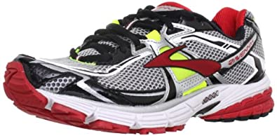 Brooks Men's Ravenna 4 Running Shoes, Color: Lava/Nghtlife/Slvr/Blck/Wht, Size: 8.5