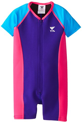 Tyr Sport Girl'S Solid Thermal, Purple/Pink, 9/10 front-945146
