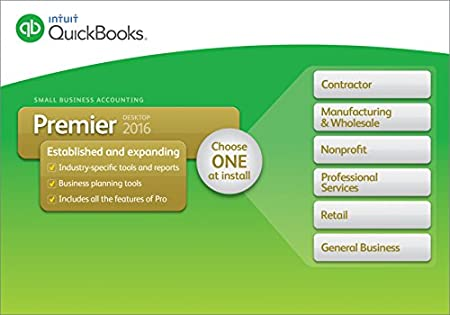 QuickBooks Premier 2016 Small Business Accounting Software with Industry Editions