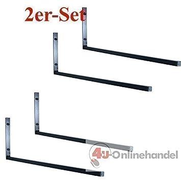QLS DACHBOXENHALTERUNG DACHBOXTR/ÄGER WANDHALTERUNG Stahl Halterung DACHBOXHALTER 82 cm