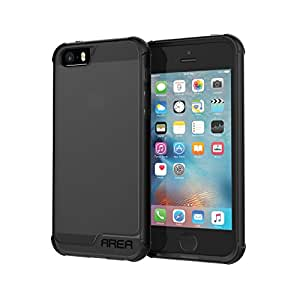 iPhone 5 5S SE Case, Area by Incipio Octane Pure Case, Translucent Dual Layer Shock-Absorbing Durable iPhone 5/5s/SE Cover - Black/Black