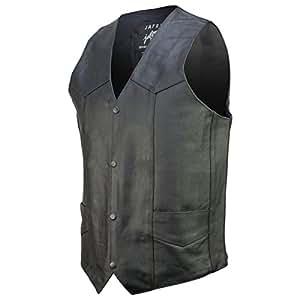 Amazon.com: Basic Concealed Carry Biker Leather Vest 34: Automotive