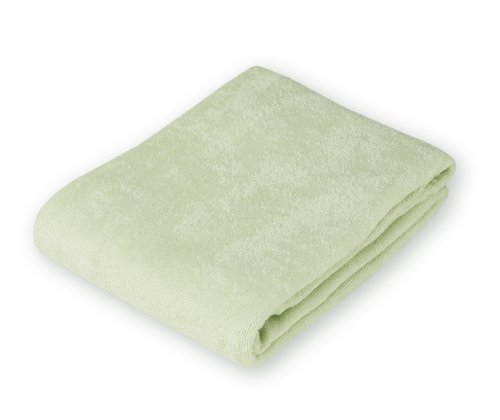 American Baby Company Organic Terry Cloth Flat Fitted Changing Pad Cover, Sage - 1