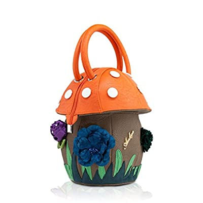 DARLING'S Amliya Mushroom Fashion Design Handbag Top-handle Bag Orange