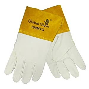 Global Glove 100MTG Goatskin Grain Kevlar Sewn Mig Tig Welder Glove, Work, Extra Large (Case of 72) from Global Glove