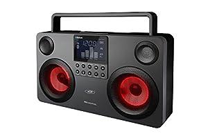 SDigital GB-3700 Commando Bluetooth Boombox (Light Show, USB, MP3, Radio, SD-Kartenleser) dunkel grau/schwarz