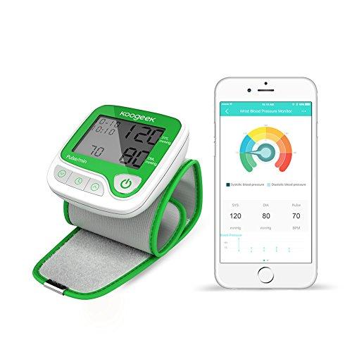 Koogeek スマート血圧計(手首式)デジタル血圧計 心拍観測 自動的携帯にも便利な家庭用血圧計 Appをダウンロード使用 IOSとAndroidに対応