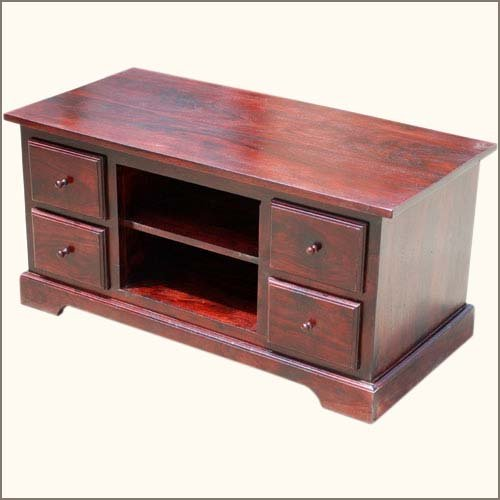 Lincoln Study 4 Drawer Cherry Media Cabinet