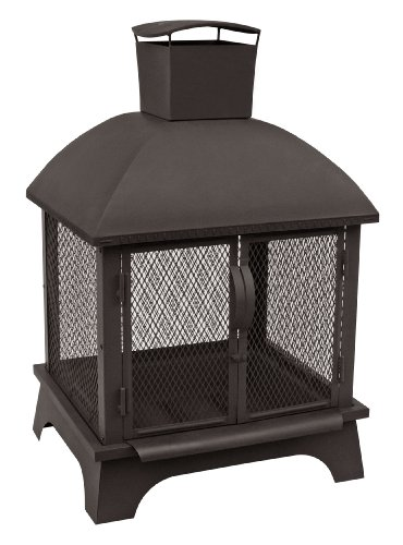 Landmann USA 25722 Redford Outdoor Fireplace, Black