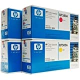 HP Genuine Q6470A, Q7581A, Q7582A, Q7583A Toner Set Bcym Lj 3800 Cp3505 Sealed In Retail Packaging