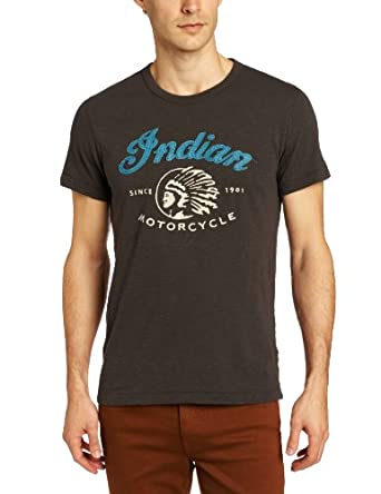 Lucky Brand Men's Indian Chief Graphic Tee, Black Mountain, Small