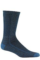 Wigwam Men's Cool-Lite Hiker Pro Crew Socks,Large,Dark Denim