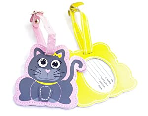 Childrens Cat Luggage Tag from iOSSS