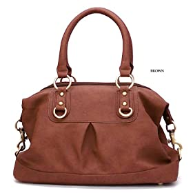 Classic Look Brown Handbag/Satchel - Free Shipping
