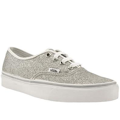 Vans Silver Glitter Shoes