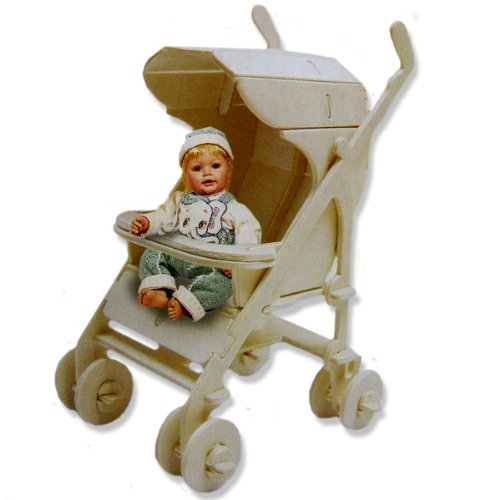 Cheap All4LessShop 3-D Wooden Puzzle – Small Baby Carriage -Affordable Gift for your Little One! Item #DCHI-WPZ-GP153 (B004QDPLDI)