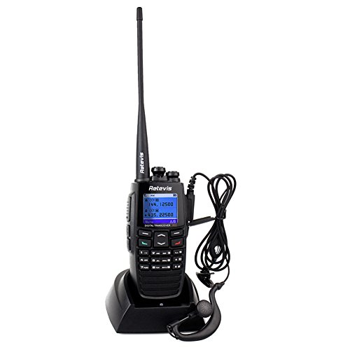 Retevis RT2 DPMR Digital 2 Way Radio VHF/UHF 136-174/400-470MHz 5W 256CH VOX GPS Message Scrambler Digital Walkie Talkies Ham Amateur Radio (Black) (Digital Ham Radio compare prices)