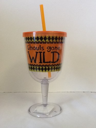 Insulated Wine Glass With Straw front-459125