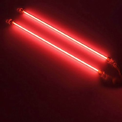 2Pcs 2 Pieces Red 6 Inches Ccfl Cold Cathode Under Car Led Light Lamp