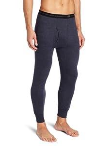 Duofold Men's Mid Weight Wicking Thermal Pant, Navy, Medium