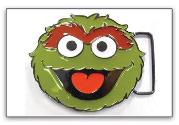 Fibbia della cintura, Sesame Street-Oscar Face in metallo verde Anime bb120698ses