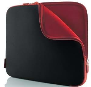 Belkin Neopren-Schutzhülle für Notebooks bis zu 33 cm (14 Zoll) kohlenschwarz/weinrot