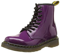 Dr. Martens Delaney Boot,Purple Patent,2 UK(3 M US Little Kid)