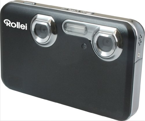 Rollei Powerflex 3D Digitalkamera (5 Megapixel, 7,1 cm (2,8 Zoll) Display, bildstabilisiert) schwarz