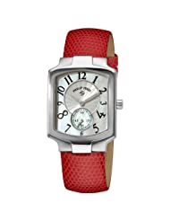 Philip Stein Women's 21-FMOP-ZPI Classic Pink Lizard Leather Strap Watch