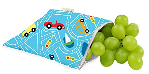 Itzy Ritzy Snack Happens Reusable Snack And Everything Bag, Transportation, Regular