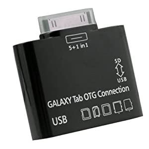 C&E OEM USB OTG Connection Kit and Card Reader for Samsung Galaxy Tab 10.1 P7500 P7510 Black (SANOXY_GTAB-OTG)