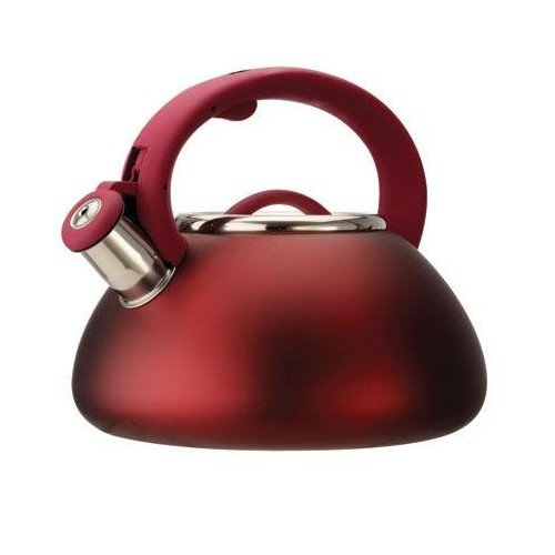 Ecolution Whistling 2.5-qt Tea Kettle - Red - Stainless Steel - Whistling Kettle Collection - Kitchenware - Kitchen Kettle Collections - Must have for your Home Sweet Home.