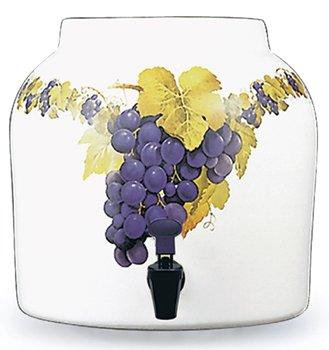 Ceramic Water Crock Dispenser - Grapes - Buy Ceramic Water Crock Dispenser - Grapes - Purchase Ceramic Water Crock Dispenser - Grapes (For Your Water, Home & Garden, Categories, Kitchen & Dining, Kitchen & Table Linens, Accessories)