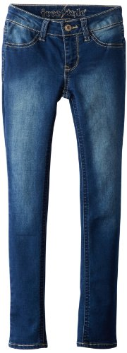 Freestyle Revolution Big Girls' Paris Jegging, Dark Wash, 8 front-140685