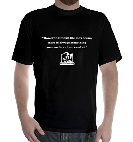 New Mens Black colors short sleeve cotton tshirt Stephen Hawking Quote: