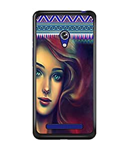 PrintDhaba Beautiful Girl D-5079 Back Case Cover for ASUS ZENFONE 5 A501CG (Multi-Coloured)